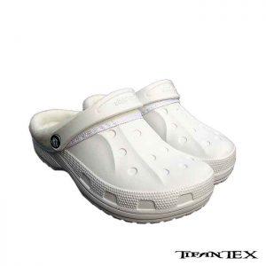 biele damske zateplene kroxy